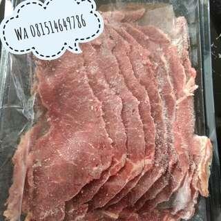 Frozen beef slice sukiyaki