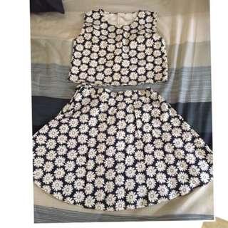 穿過一次*小花兩件式洋裝