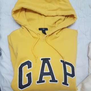 Gap 黃色長袖 帽踢