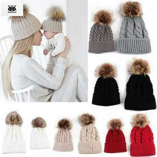 Winter Hats for Mom and Baby