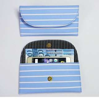 Georgia Wallet Light Blue Stripes