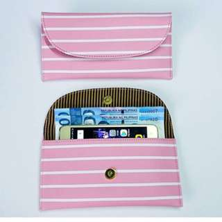 Georgia Wallet Light pink stripes
