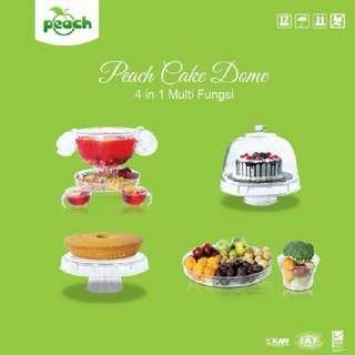 peach cake dome