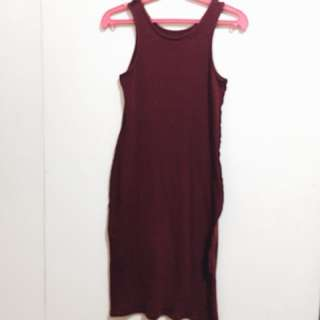 Bodycon Maroon Dress