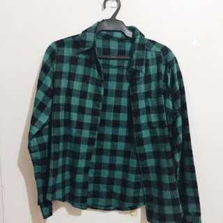 Plaid Green Long Sleeves