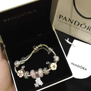 Pandora inspired bracelet with charms