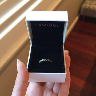 AUTHENTIC Pandora Linked love ring