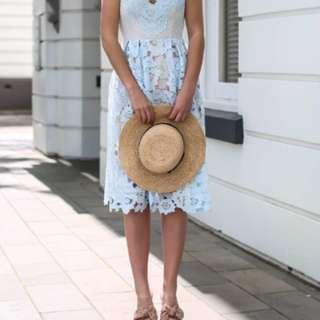 Seed blue lace dress