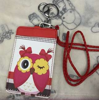 Owl Ezlink Holder w lanyard