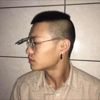 老品可掀式兩用墨鏡眼鏡