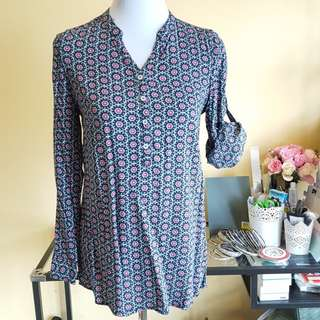 🆓️📫 Goggles Floral Button Blouse Top Free Post