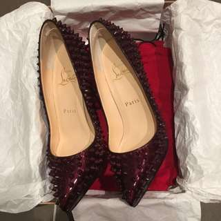 authentic christian louboutin pigalle plato spikes