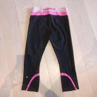 Lululemon pink black yoga tights