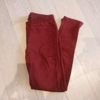 Red maroon uniqlo pants