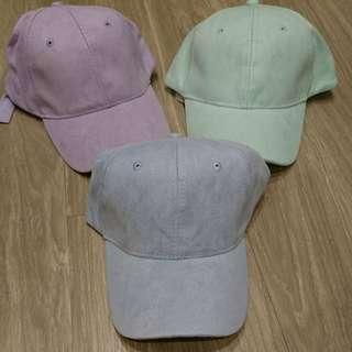 麂皮絨棒球帽-粉紫(含郵)