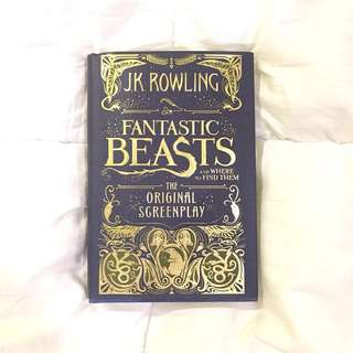 FANTASTIC BEASTS AND WHERE TO FIND THEM hardbound