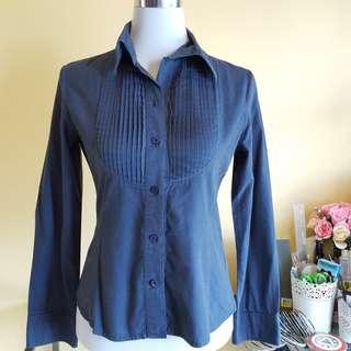 🆓️📫Communique Navy Blue Button Shirt