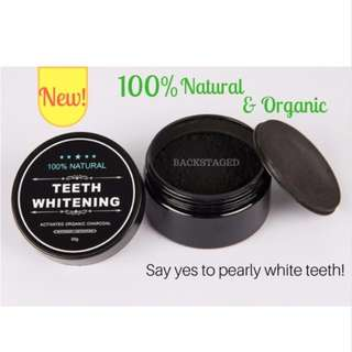 100% Natural & Organic Teeth Whitening Stain Removing Charcoal Powder - Coconut Activated Carbon