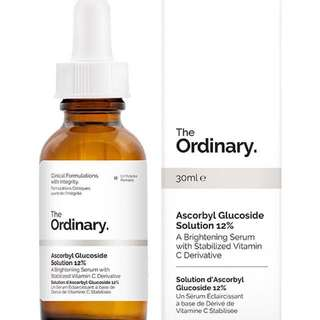 INSTOCK The Ordinary Ascorbyl Glucoside Solution 12%