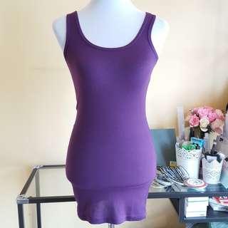 🆓️📫🆕️Purple Tank Bodycon Dress T-shirt Free Post