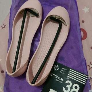 Praiaz 輕量 膠鞋 懶人鞋 娃娃鞋 平底鞋 便鞋 雨鞋 防水鞋 適合39號