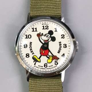 Vintage Bradley Mickey Mouse Watch