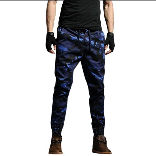 4XL Plus Size Men Pants Camouflage Cargo Pants Army Military