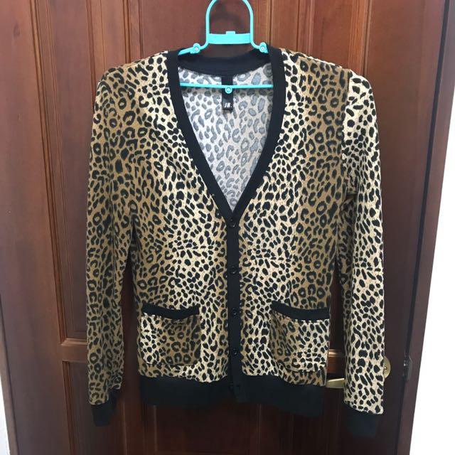 韓風豹紋罩衫