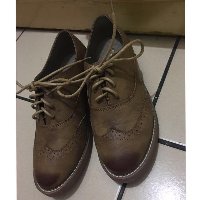 全新*棕色牛津鞋