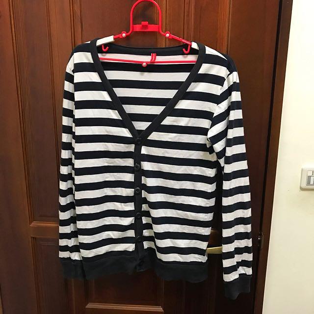 黑白條紋罩衫