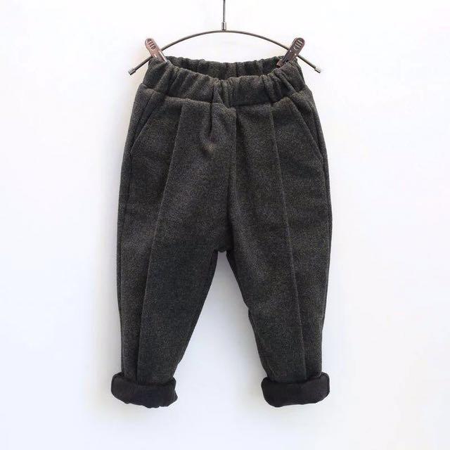 (全新)兒童韓版加絨加厚長褲