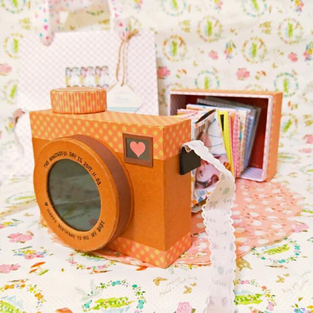 手工✨相機造型卡片