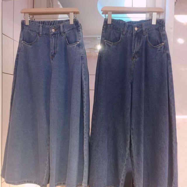全新轉賣 牛仔寬褲