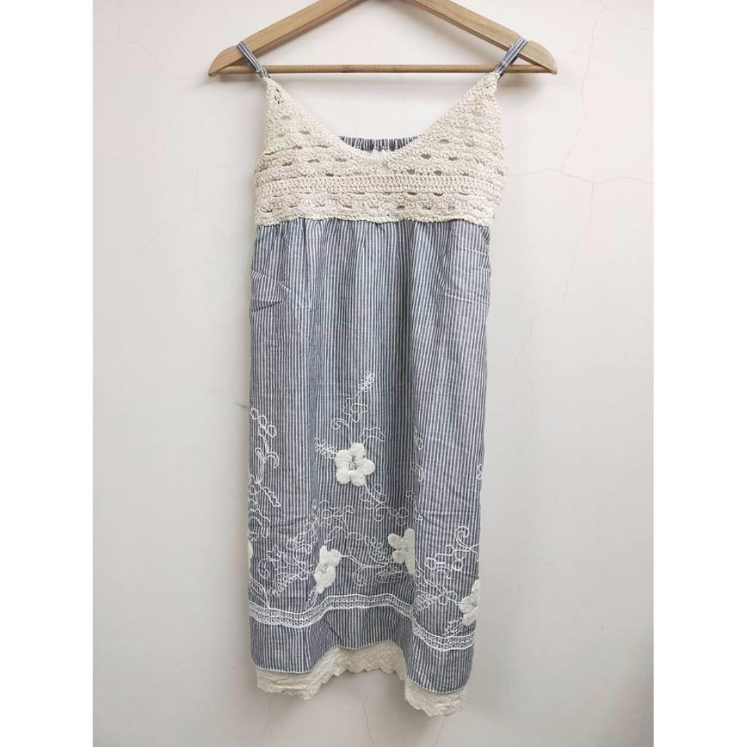 二手 日本棉麻洋裝