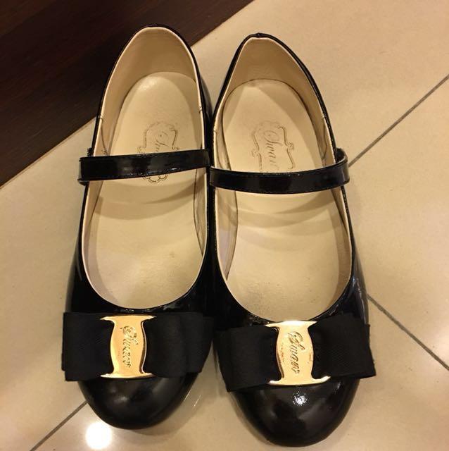 女童 百搭黑色娃娃鞋 31號