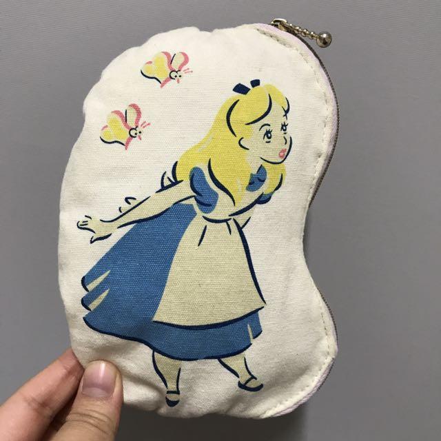 迪士尼 愛麗絲夢遊仙境 澎澎拉鍊小包 零錢包 鑰匙包   #幫你省運費