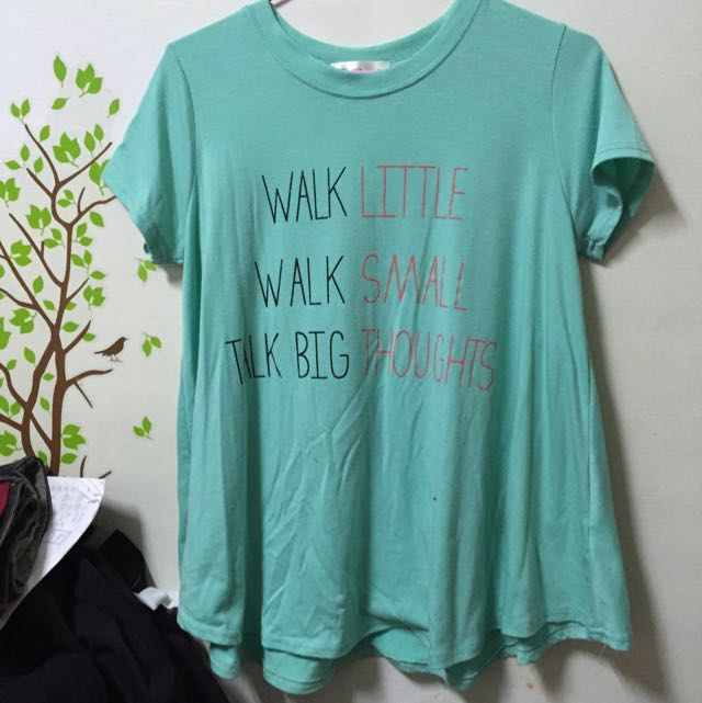 正韓 蒂芬妮藍 傘狀 短袖 長T-shirt