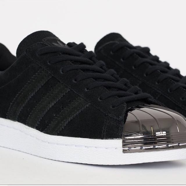 Adidas Black Metal Toe