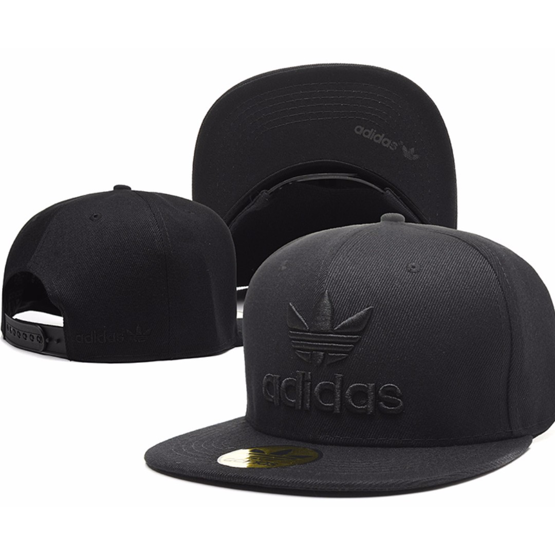 Adidas Hip Hop SnapBack Cap with adjustable strap  Full Black ... 01b19eee792