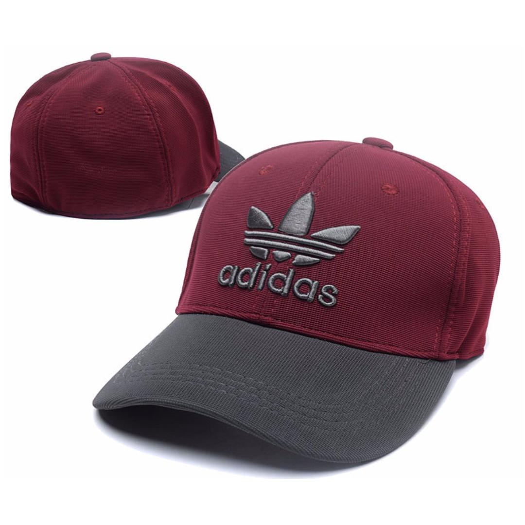 Adidas Sports Stretchable Close Full Fit Unisex Baseball Cap  Maroon ... d0aa94ee4c7