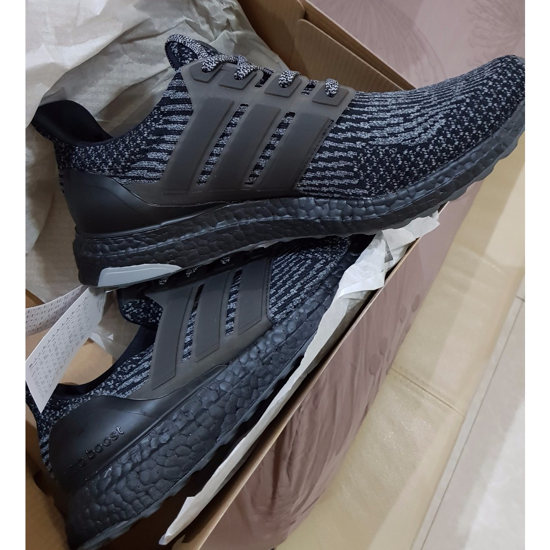 Adidas Ultraboost 30 Silver Black Preloved Fesyen Pria Sepatu Di Ultra Boost Photo