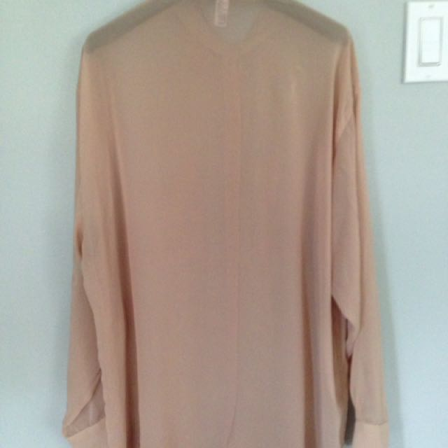 American Apparel Chiffon Button Up - One Size