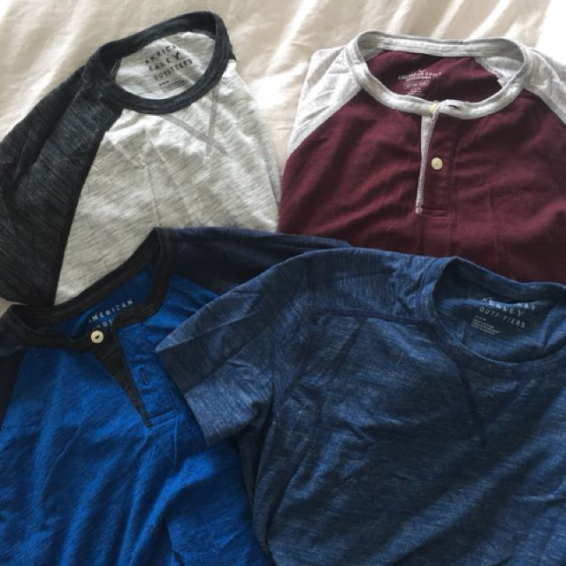 American Eagle cotton t-shirts *Set of 4* size M