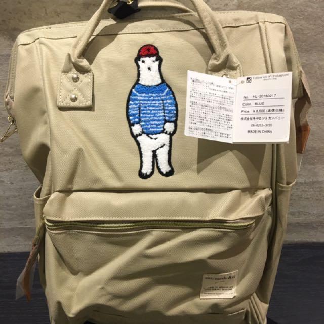 出清降價anello日本🐻熊限量大開口後背包