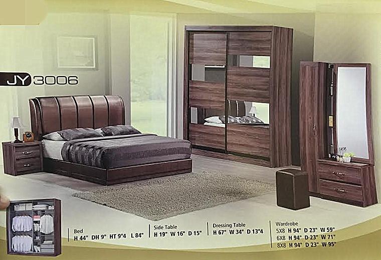 Ansuran Murah Set Bilik Tidur 5 Dalam 1 6x8 Wardrobe Rumah Perabot Di Carou