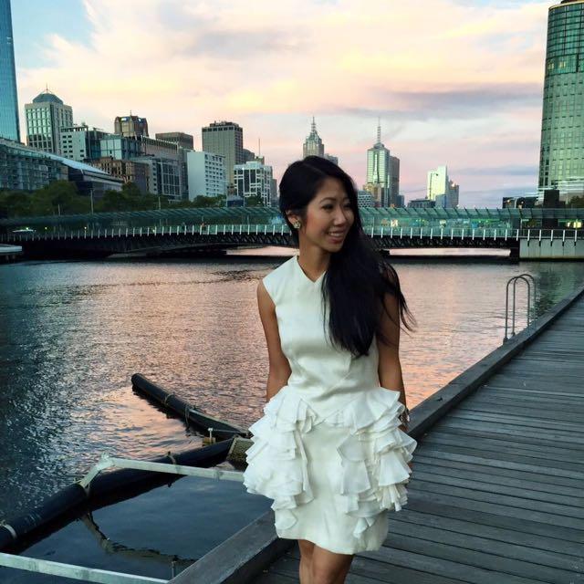 Aurelio Costarella white layered dress | size 6-8