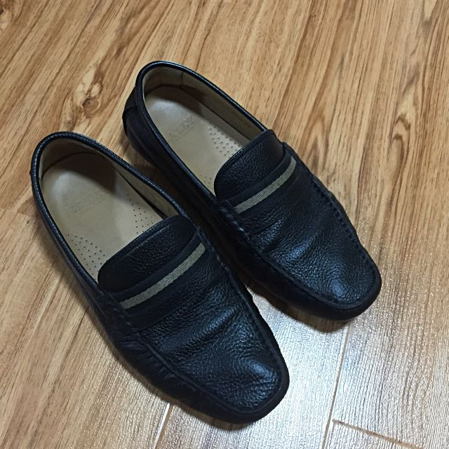 Authentic Bally Black Leather Loafer