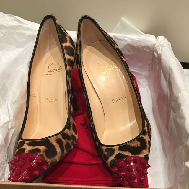 authentic christian louboutin geo pump size 35.5