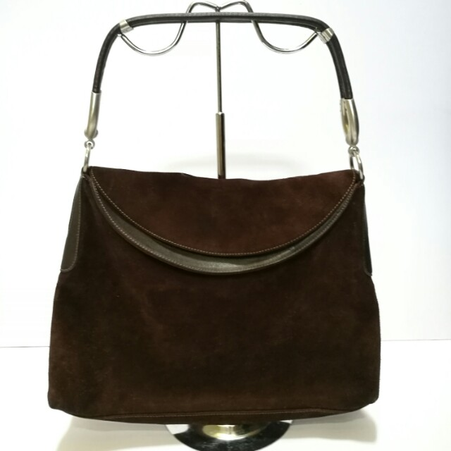 c75ba3e21b Authentic Hogan Brown Suede Leather Hobo Bag  Clearance Sale ...