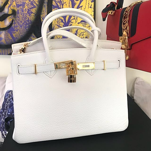 99394c32e8ff Authentic House of Hello 30 cm White Togo leather Birkin like Bag ...